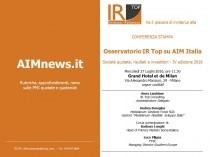 INVITO RISERVATO - Osservatorio IR Top su AIM Italia 2016